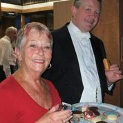 Adrian Bawtree and Anne sampling our sweet treats